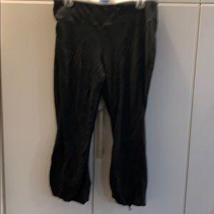 Black ankles workout leggings